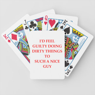 GUILTY BICYCLE PLAYING CARDS