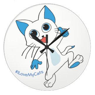 Guilty Cats ™- I Love My Cats Clock