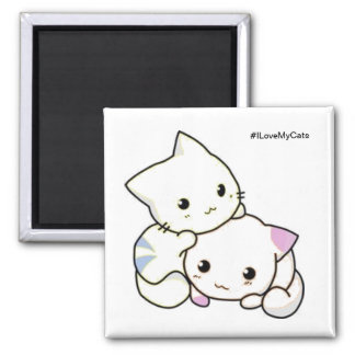 Guilty Cats ™ - I Love My Cats Magnet