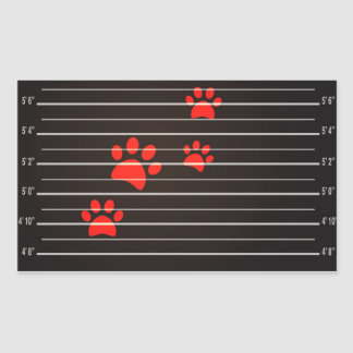 Guilty Cats Rectangle Stickers, Glossy Sticker