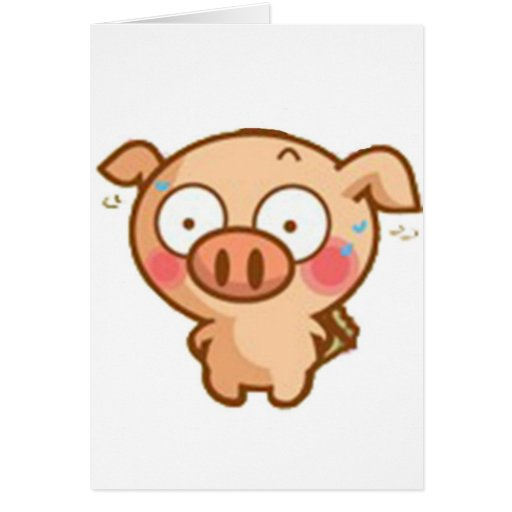 Guilty Piggy In Headlights Cards