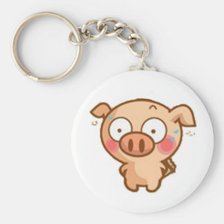 Guilty Piggy In Headlights Key Chain