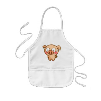 Guilty Piggy In Headlights Kids Apron