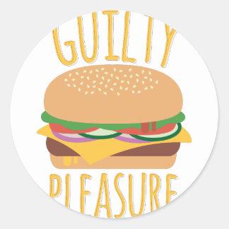 Guilty Pleasure Round Sticker
