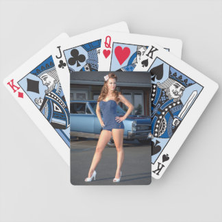 Guilty Pontiac GTO Vintage Swimsuit Pin Up Girl Bicycle Playing Cards
