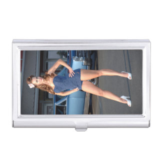 Guilty Pontiac GTO Vintage Swimsuit Pin Up Girl Business Card Holder