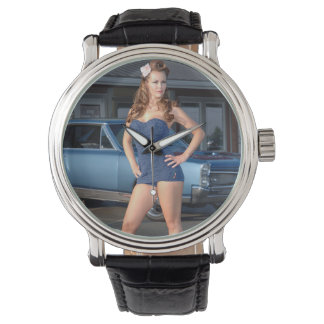 Guilty Pontiac GTO Vintage Swimsuit Pin Up Girl Watch