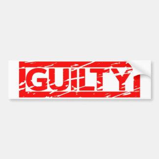 Guilty Stamp Bumper Sticker