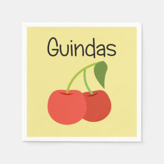 Guindas (Cherries) Disposable Napkin