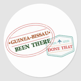 Guinea-Bissau Been There Done That Classic Round Sticker