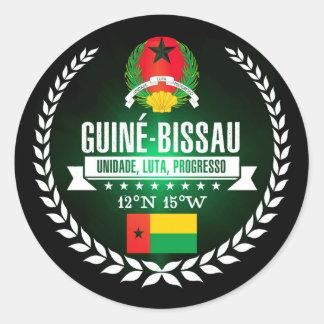 Guinea-Bissau Classic Round Sticker