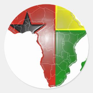 Guinea Bissau Classic Round Sticker