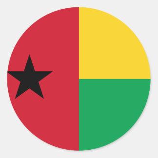 Guinea-Bissau Flag Classic Round Sticker