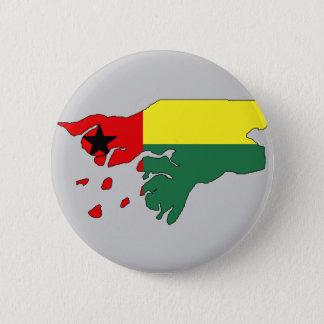Guinea bissau flag map 2 inch round button