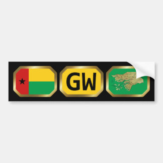 Guinea-Bissau Flag Map Code Bumper Sticker