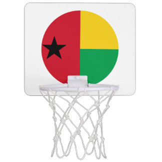 Guinea-Bissau Flag Mini Basketball Hoop