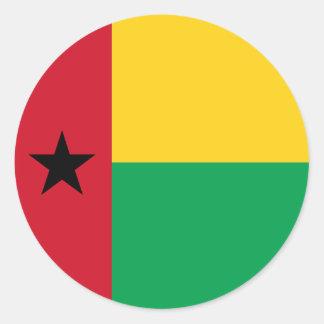 Guinea-Bissau Flag Round Sticker