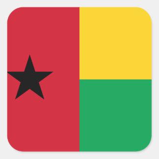 Guinea-Bissau Flag Square Sticker