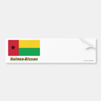 Guinea-Bissau Flag with Name Bumper Sticker