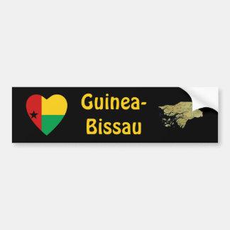 Guinea-Bissau Heart Flag + Map Bumper Sticker