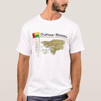 Guinea-Bissau Map + Flag + Title T-Shirt