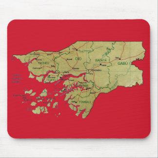 Guinea-Bissau Map Mousepad