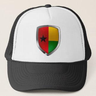 Guinea-Bissau Mettalic Emblem Trucker Hat