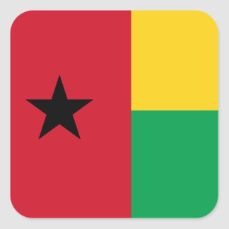 Guinea-Bissau National World Flag Square Sticker