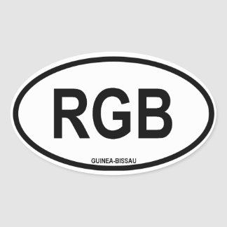 "Guinea-Bissau ""RGB"" Oval Sticker"