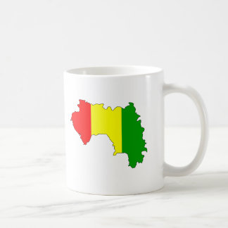 Guinea flag map coffee mug