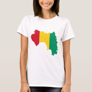 Guinea Flag Map GN T-Shirt