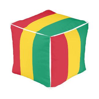 Guinea Flag Pouf