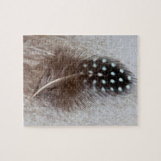 Guinea fowl and goose feather jigsaw puzzle