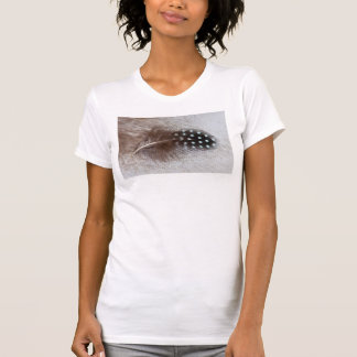 Guinea fowl and goose feather T-Shirt