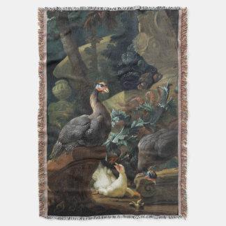 Guinea Fowl Birds Animals Baby Throw Blanket
