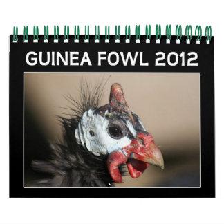 Guinea Fowl Calendar for 2012