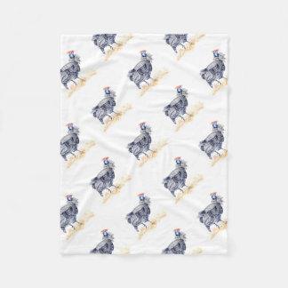 Guinea hen fleece blanket