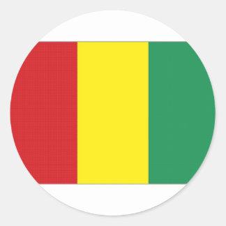 Guinea National Flag Round Stickers