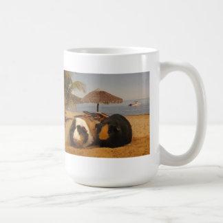Guinea Pig Buddies on the Beach Coffee Mug
