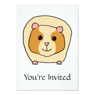 Guinea Pig Cartoon. Card