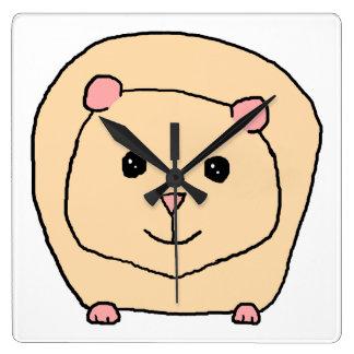 Guinea Pig Cartoon. Wall Clock