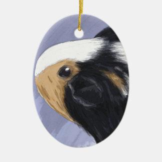 Guinea pig ceramic oval ornament