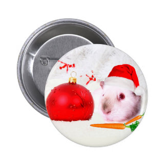 Guinea Pig Christmas 2 Inch Round Button