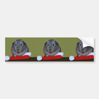 Guinea Pig Christmas Bumper Sticker