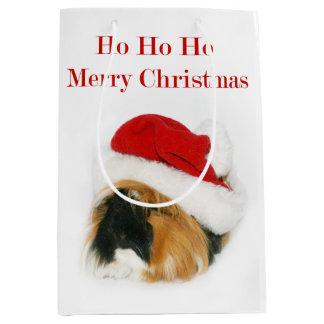 Guinea Pig Christmas Medium Gift Bag