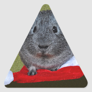 Guinea Pig Christmas Triangle Sticker