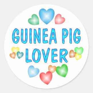 GUINEA PIG LOVER CLASSIC ROUND STICKER