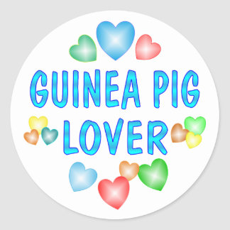 GUINEA PIG LOVER ROUND STICKER