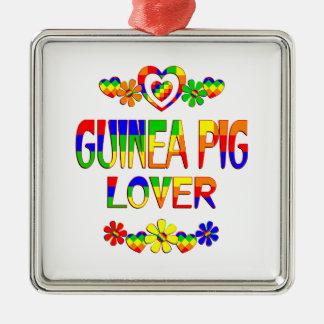 Guinea Pig Lover Silver-Colored Square Ornament