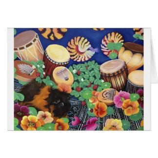 Guinea Pig Magic Carpet Drum Garden Delight Card